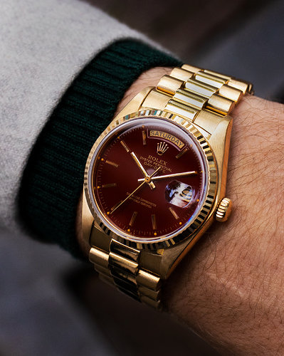 Rolex Day-Date 18038 stella oxblood