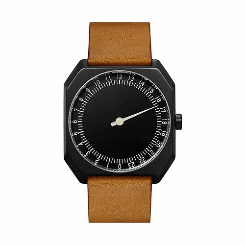 slow-Jo-19-Swiss-one-hand-wrist-watch-Black-Brown-1