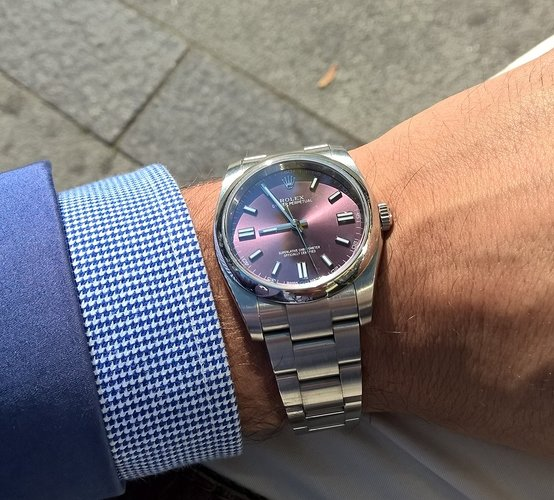 Rolex 116000 Red Grape