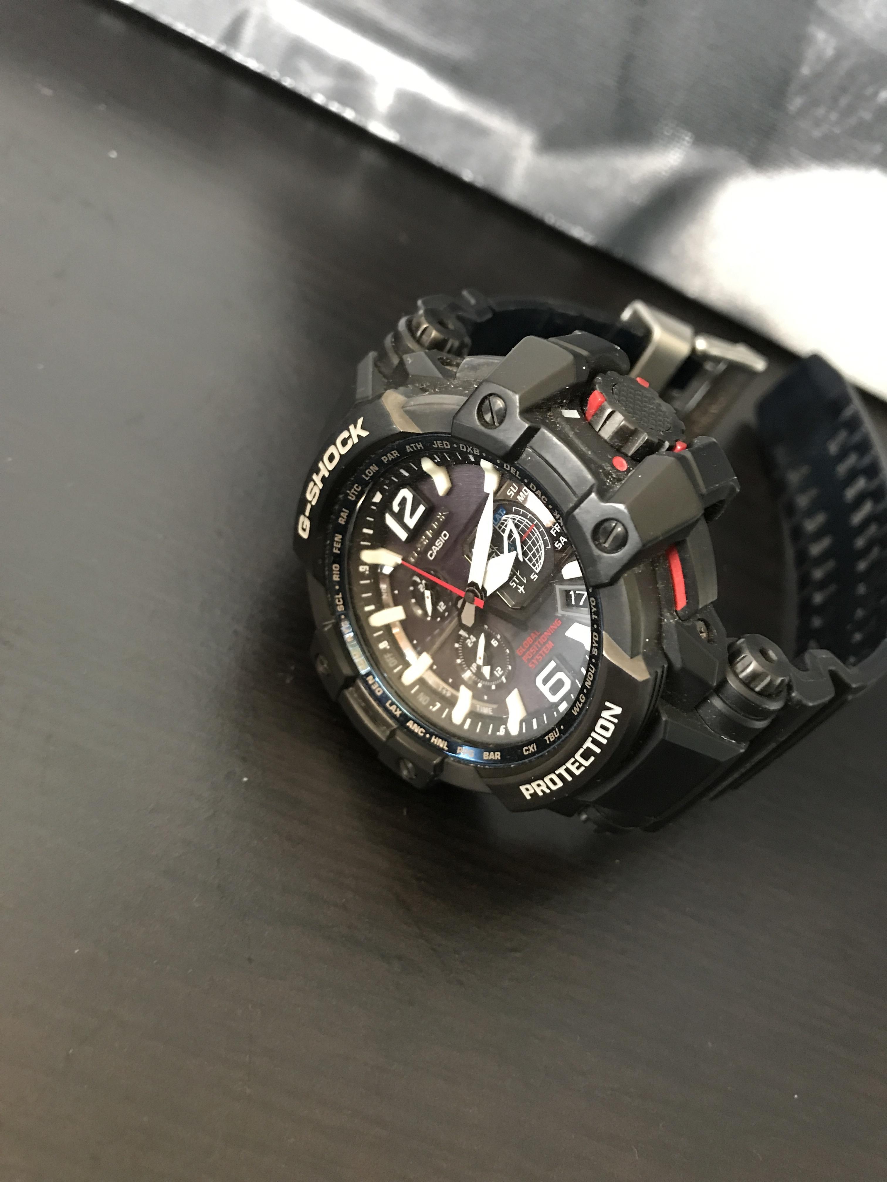 G Shock Zwart Met Rood.Verkocht Casio G Shock Gpw 1000 1aer Gps Horloge Horlogemarkt