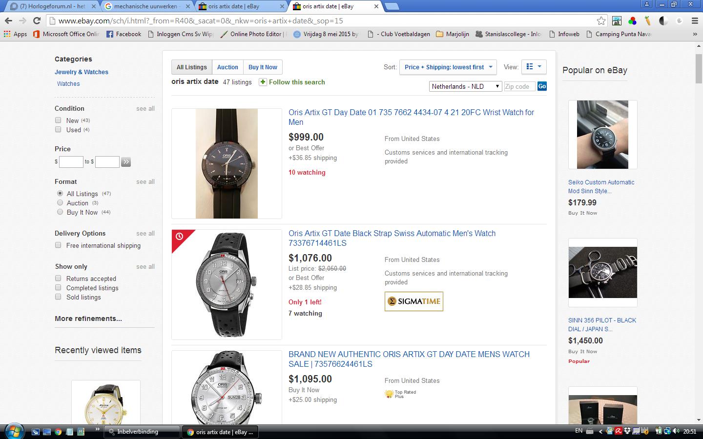 Verschil In Aanbod Ebay Com En Ebay Nl Algemene Horlogepraat