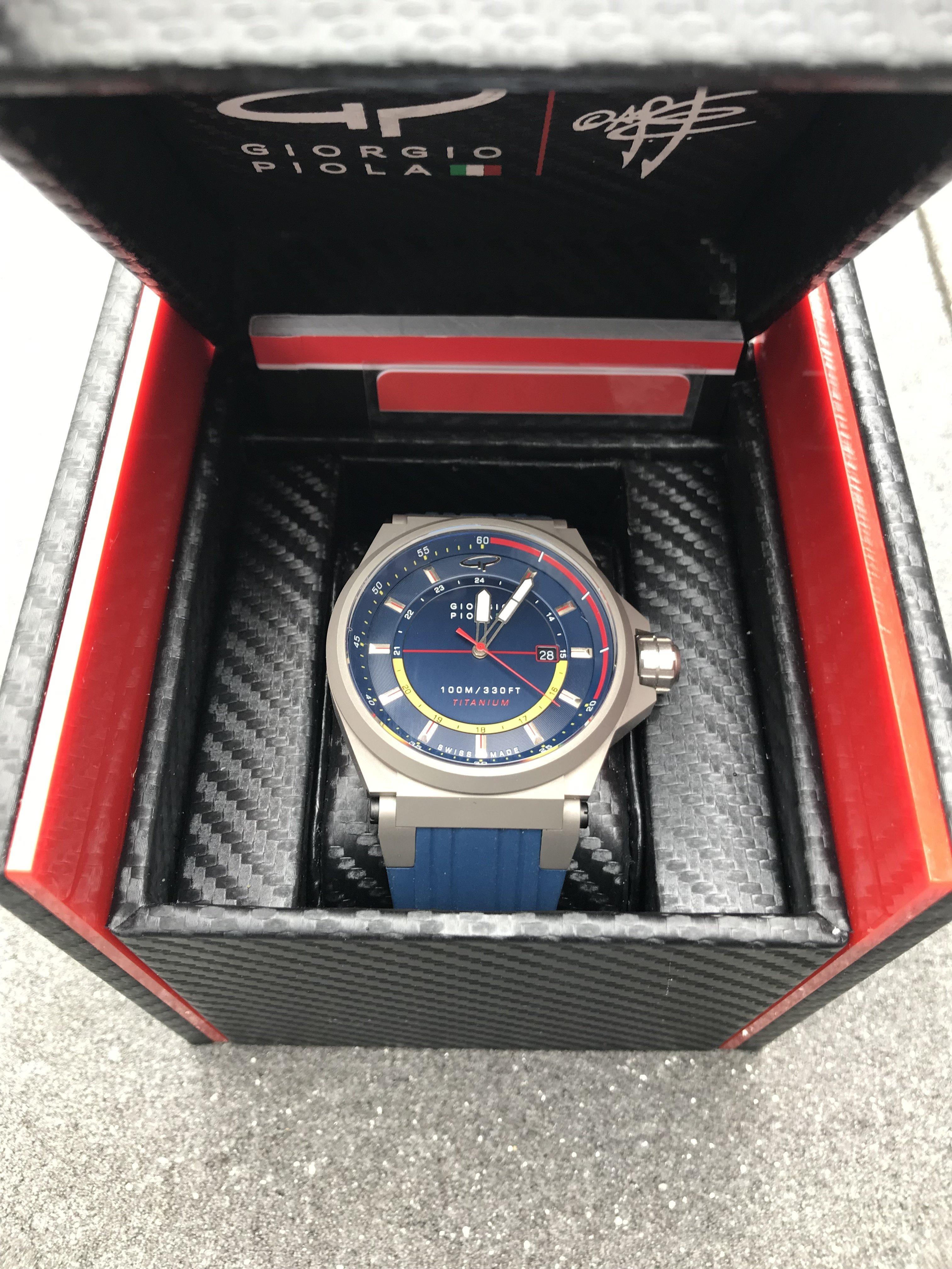 Verkocht] Giorgio Piola STRAT 3 Verkocht via horlogemarkt