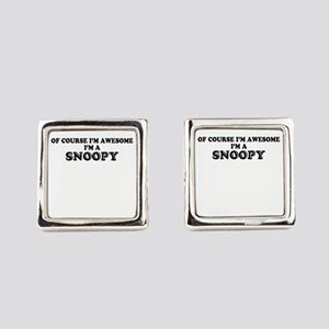 Of_course_Im_Awesome_Im_SNOOPY_Square_Cufflinks_300x300