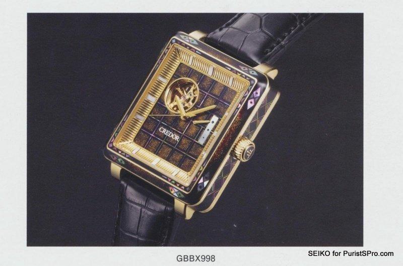 Credor (Seiko) GCBP99# Algemene Horlogepraat