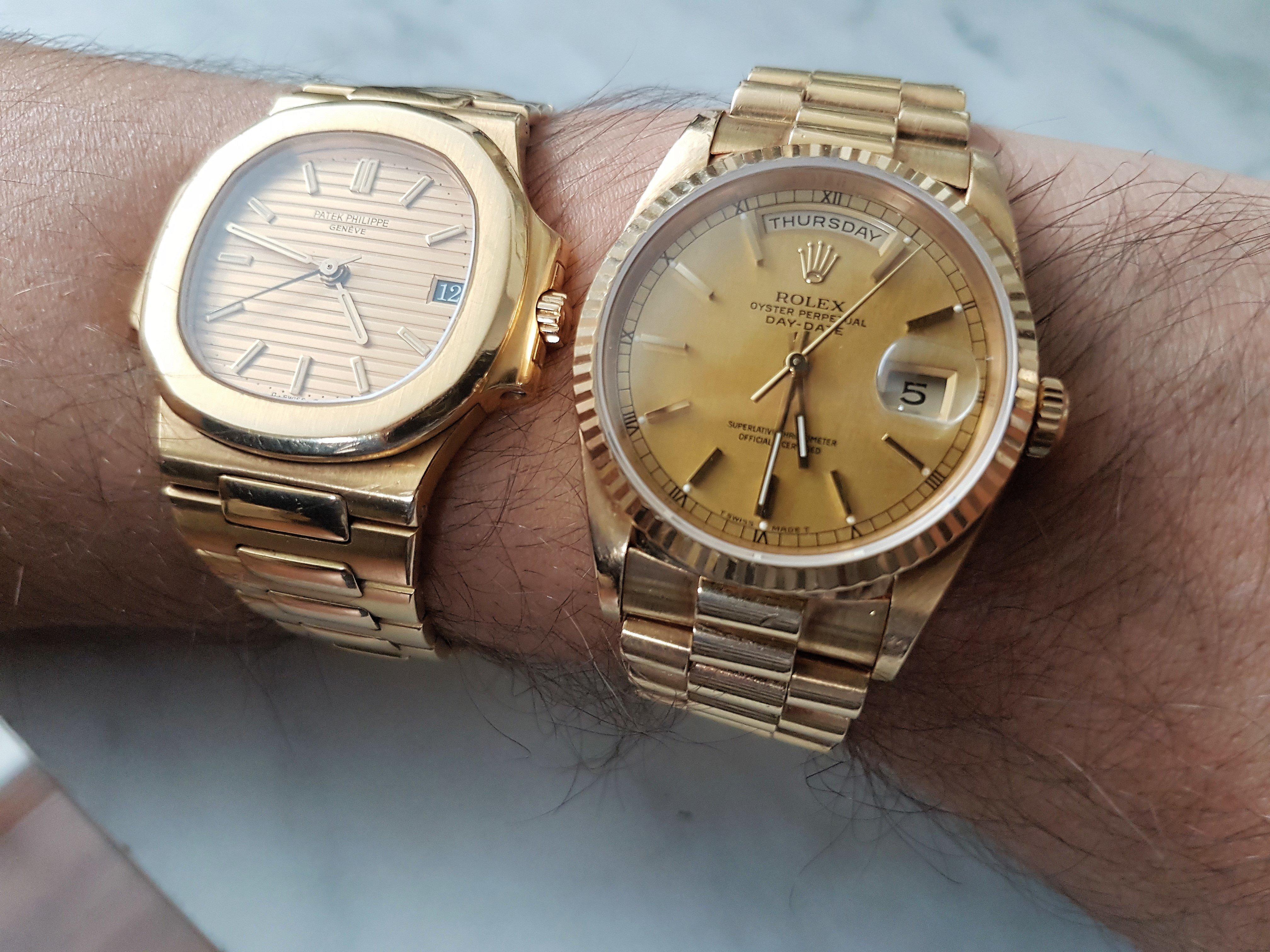 Laat Je Gouden Horloges Zien Algemene Horlogepraat