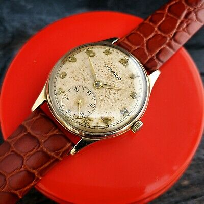 Super-Vintage-9ct-Gold-Movado-Gents-Wristwatch-Breguet