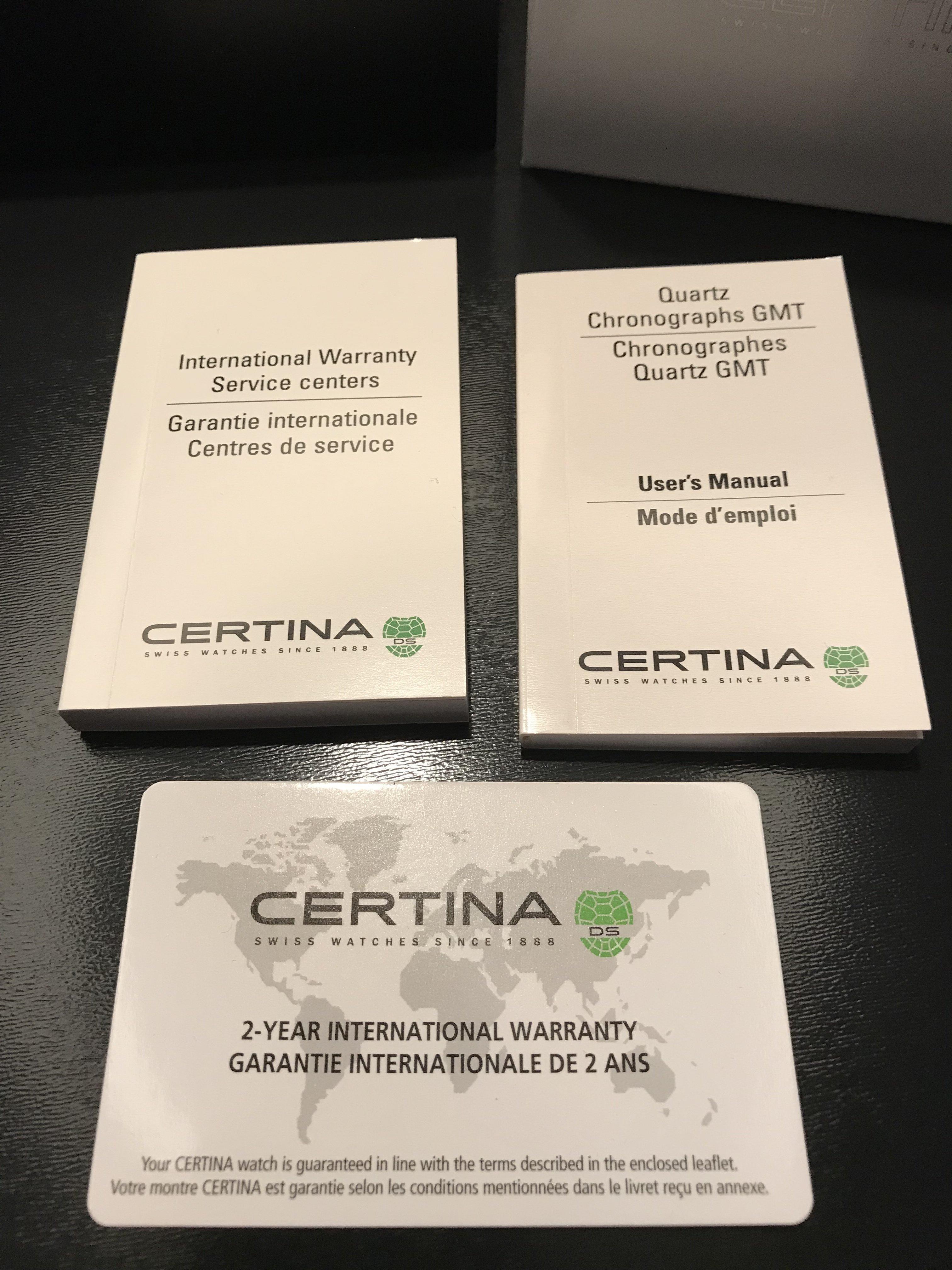 certina ds multi 8 user manual